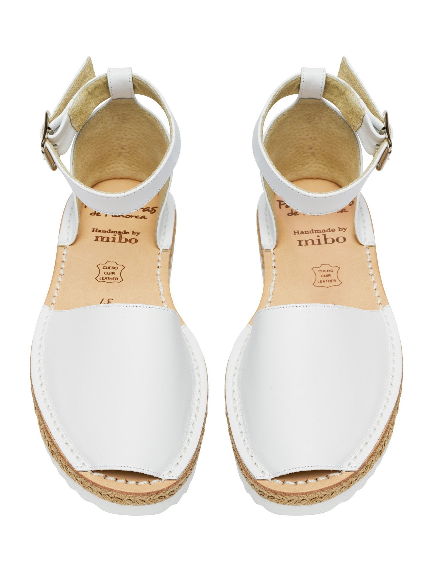 Minor Imperfections White Espadrille Anklestrap