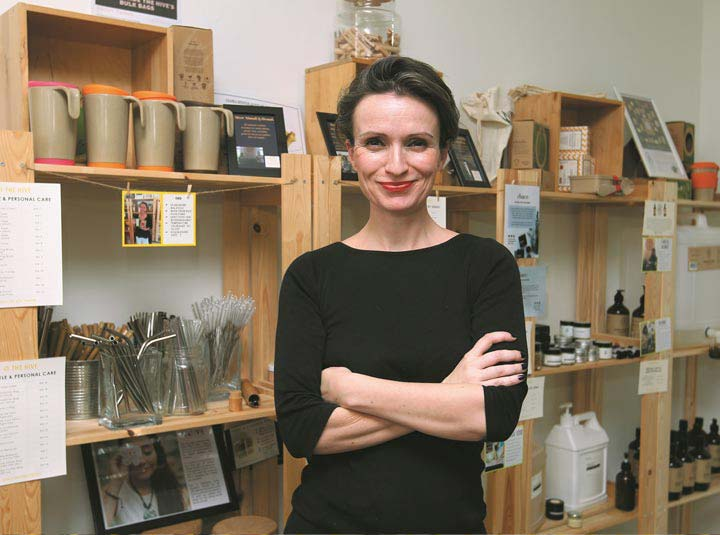 The founder of the hive eco store