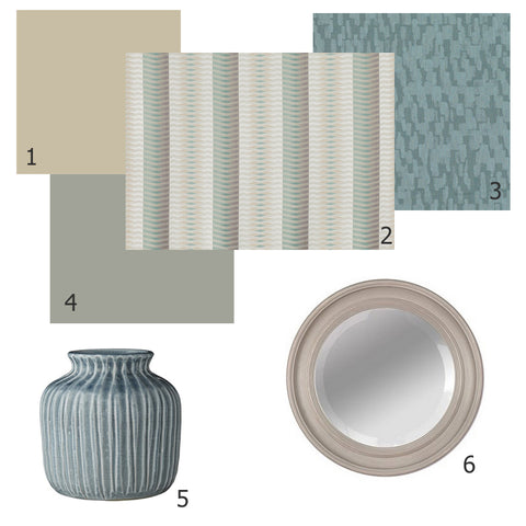 interior look | aqua and mocha tones