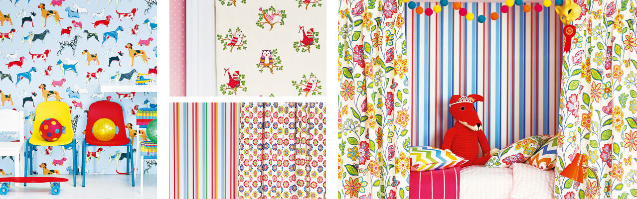 Jane Churchill Get Happy Fabric and Wallpaper Collection