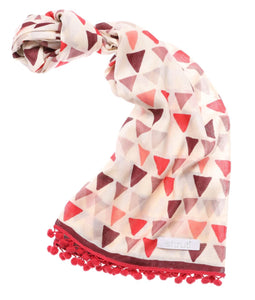 Triangles Scarf Pink