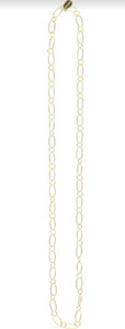 Gold Ring Chain Necklace