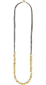 Mink and Gold Long Necklace