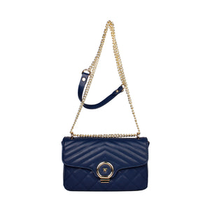 City Navy Handbag