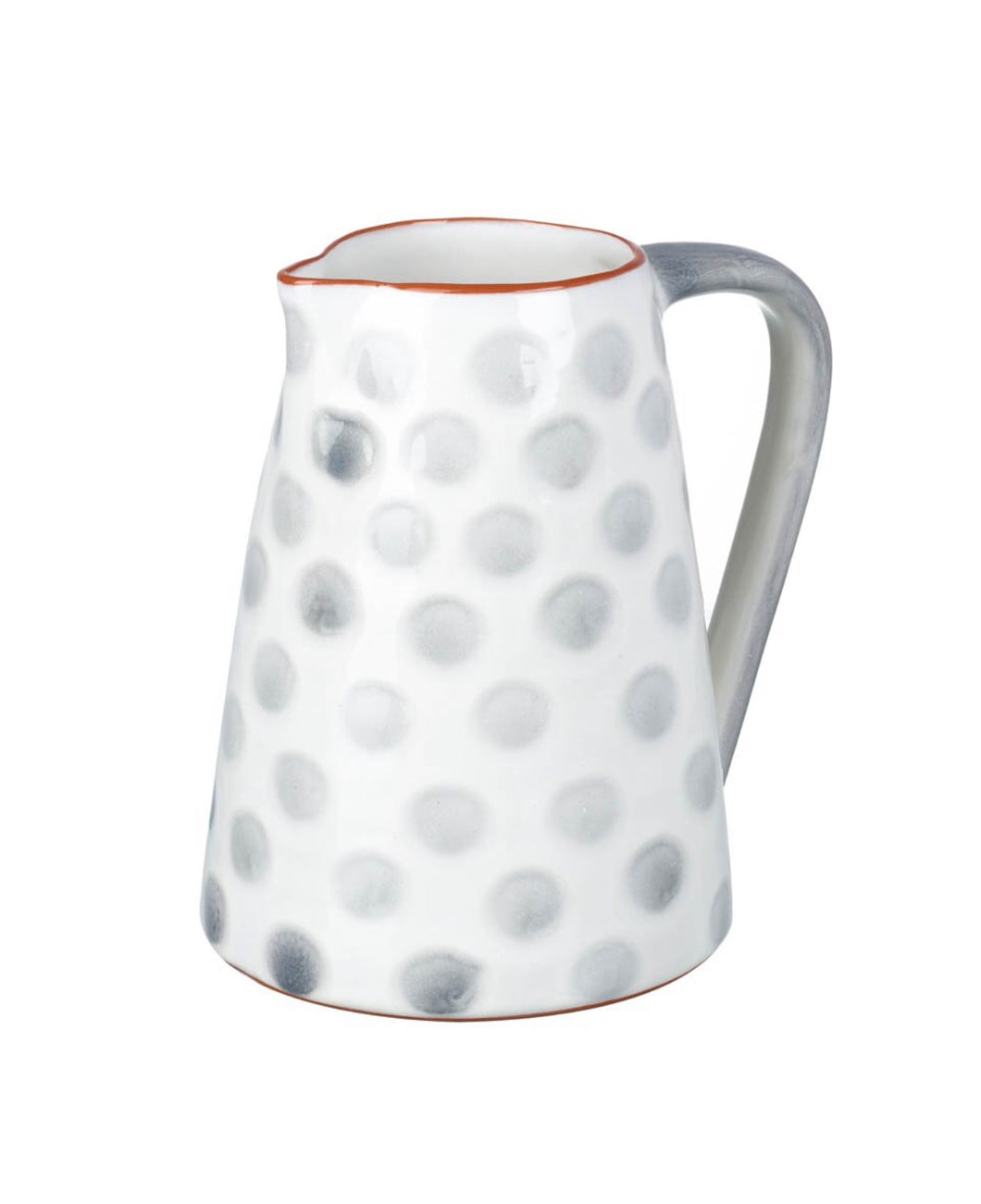 Polka Jug White and Grey