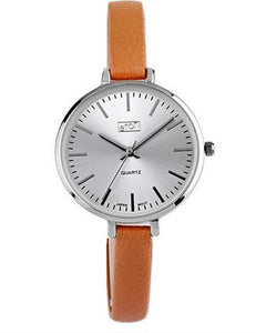 Ladies Quartz Slim Strap Taupe