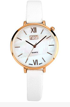 Ladies Quartz MOP Dial White