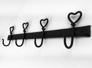 Four Heart Hooks Rack