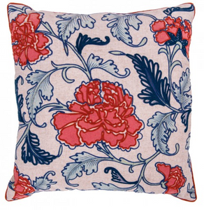 V&A Oriental Flowers Cushion
