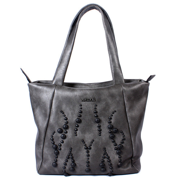 Grey Handbag With Beading Detail