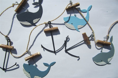 Whales and Anchors Garland