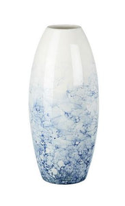 Vase Bubbles Blue/White Ceramic Medium