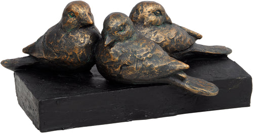 Antique Bronze Bird Sculpture