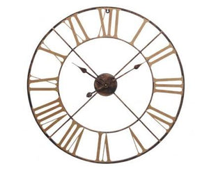 Antique Brass Outdoor Skeletal Wall Clock