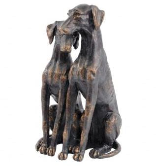 Antique Bronze Pup Sculpture