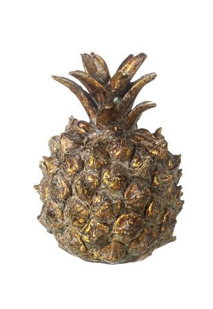 PINEAPPLE H85X55MM ANTQ GLD