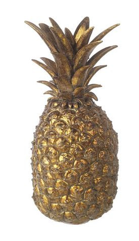 PINEAPPLE H310X140MM ANTQ GLD