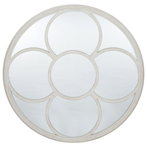 House Grey Polyresin Round Wall Mirror