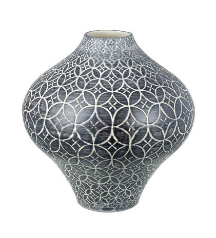 VASE RABAT H350X330MM CERAMIC GREY