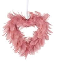 Heart Hanging with Feathers