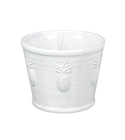 Pina Planter Ceramic White Medium