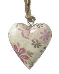 Small Floral Print Heart