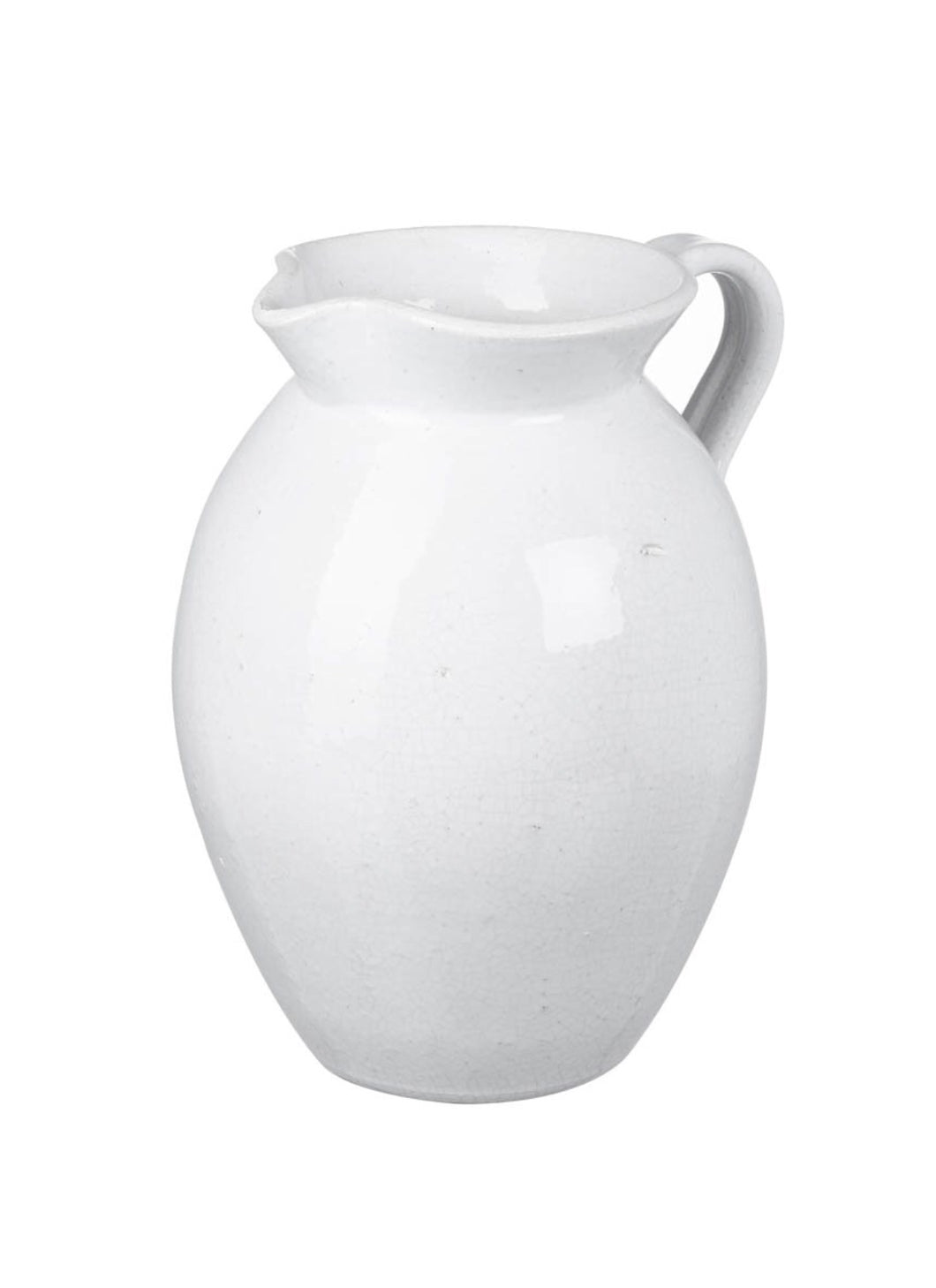 Jug Nerthus White Ceramic