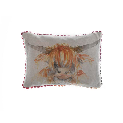 Country Highland Coo 25x35 Arthouse Cushion