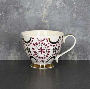 Plum and Gold Mug