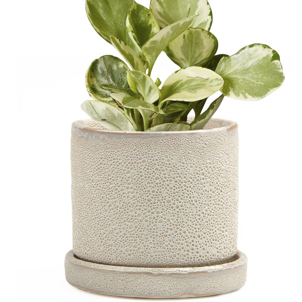 Big Minute Planter, Ivory Speckles