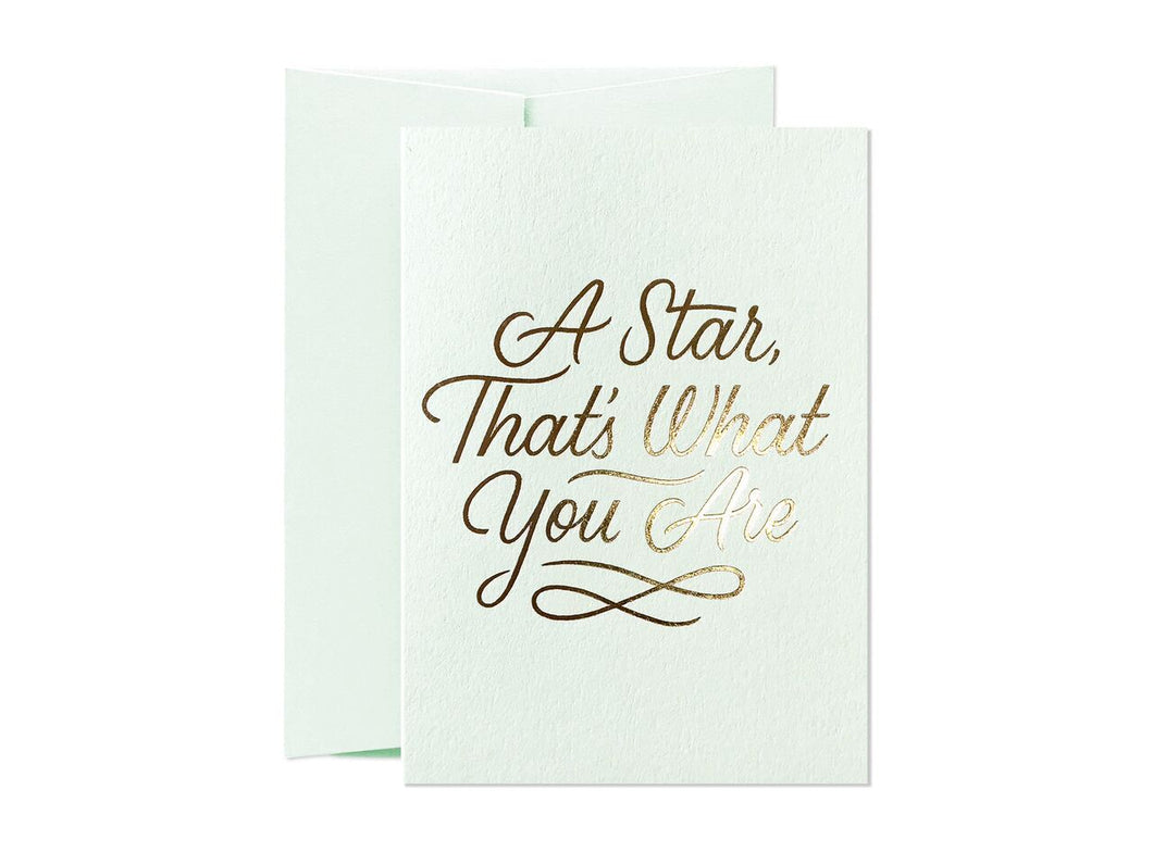 Just To Say - A Star That's What You Are Card