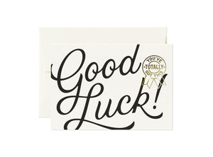 Totally - Good Luck! Card