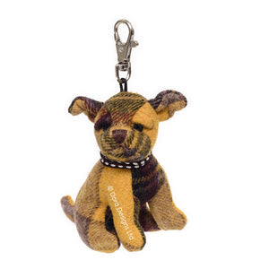 Calum Plaid Cairn Terrier Key Ring