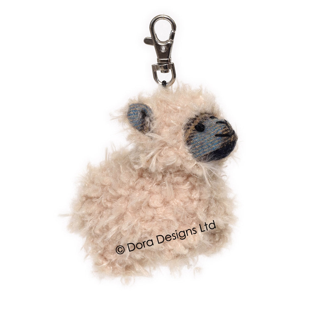Mackenzie Plaid Sheep Key Ring