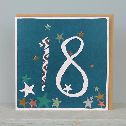 18th Birthday card - stars