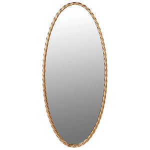 Gold Edge Oval Wall Mirror