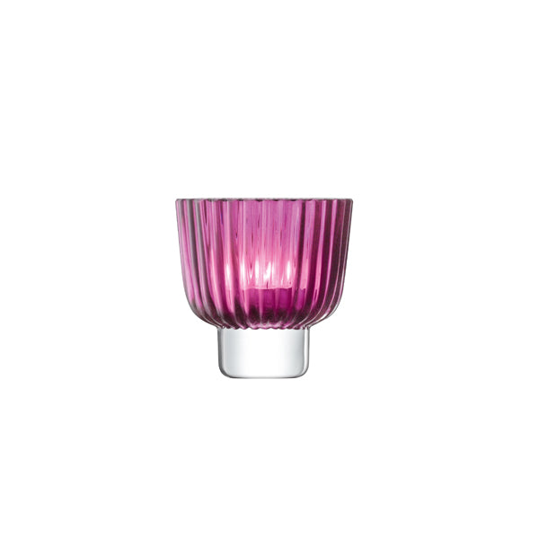 Pleat Tealight Holder - Heather