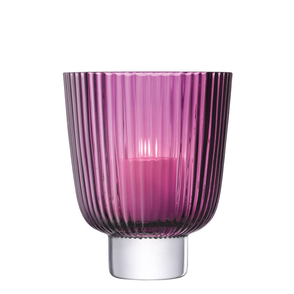 Pleat Storm Lantern - Heather