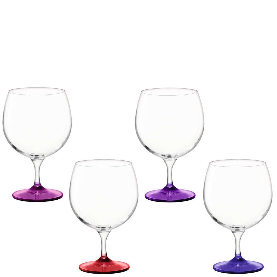 Coro Balloon Glass 525ml Berry Assorted x 4