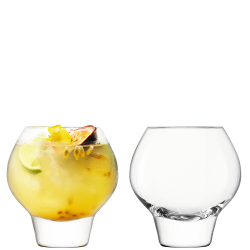 Rum Balloon Tumbler 380ml Clear x2