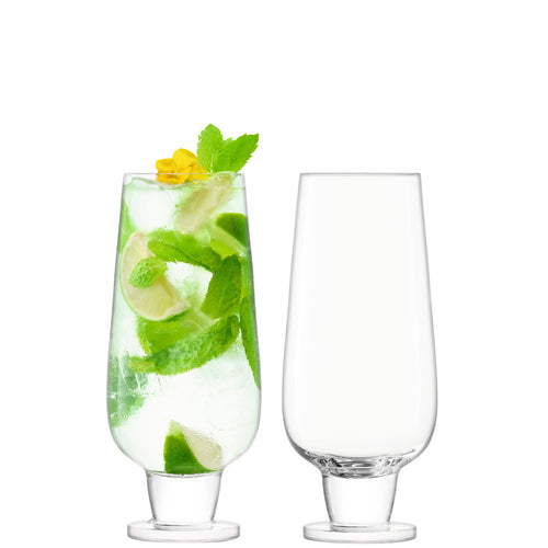 Rum Mixer Glass 550ml Clear x2