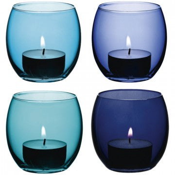 Coro Tealight Holder Lagoon x4
