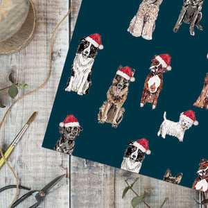 Christmas Dogs Gift Wrap