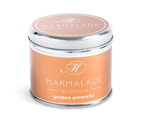 Golden Amaretto Medium Tin Candle