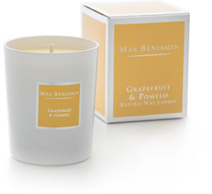 Max Benjamin Scented Glass Candle - Grapefruit & Pomelo