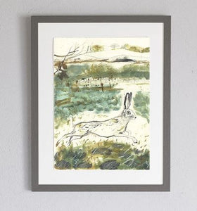 A2 Heathland Framed Print