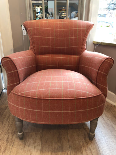 Orange Checked Chair