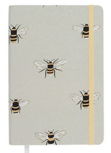 Bees Fabric A5 Notebook