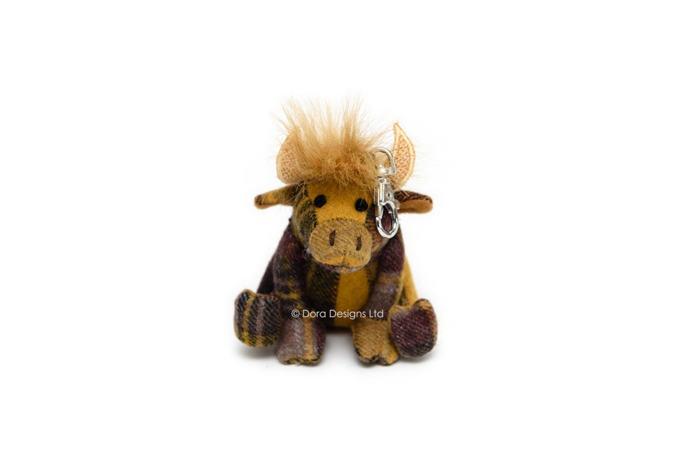 Highland Cow Key Ring