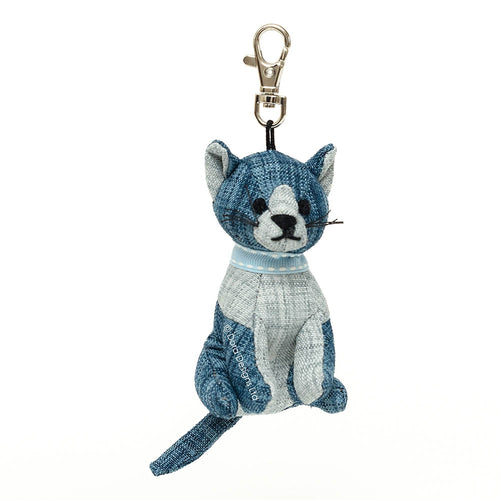 Blue Tabby Cat Key Ring
